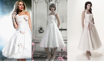 Эксперимент с длиной (50-е г.г.) Короткое свадебное платье будет прекрасно