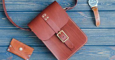 кожаная сумка для мужа